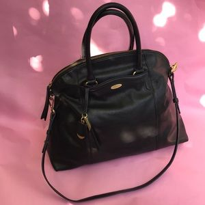 Vintage large black Tahari leather bag